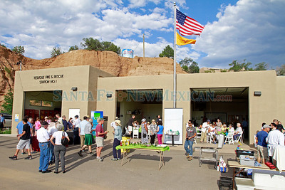 Coverage of the unveiling of the Tesuque Fire Station, which will be 100 percent powered by solar cells on Wednesday, July 31, 2013.   Jane Phillips/The New Mexican
