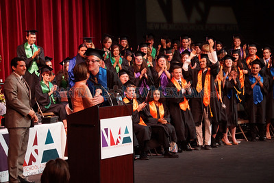 On Saturday May 31, 2014, 48 seniors graduated as the first full class from Santa Fe School for the Arts. Photo by  Luke E. Montavon/The New Mexican