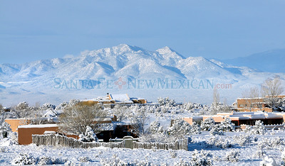 Up to eight inches of snow fell in the Santa Fe, New Mexico Sunday, March 14, 2010 blanketing the area. Clearing skies on Monday morning made for some beautiful views. Clyde Mueller/The New Mexican