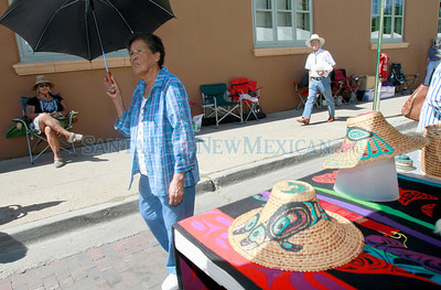 92nd Annual Indian Market on Saturday, August 17, 2013.  Jane Phillips/The New Mexican