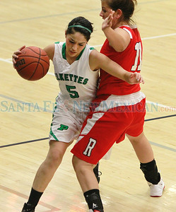 Las Vegas Robertson-Pojoaque Valley during the  Capital City Invitational at the Toby Roybal Gymnasium on Thursday, December 8, 2011. Photos by Jane Phillips/The New Mexican