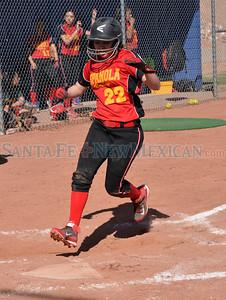 Española Valley vs Santa Fe High softball game played at the Santa Fe High softball field on Tuesday, March 24, 2015. Clyde Mueller/The New Mexican