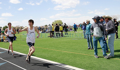 Capital City Invitational track and field meet at Santa Fe High on Saturday, April 14, 2012.  Photos by Jane Phillips/The New Mexican