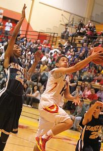Santa Fe High vs Espanola at the Edward Medina Gymnasium on Saturday, February 8, 2014.  Jane Phillips/The New Mexican